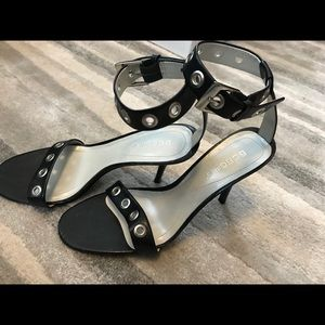 Bcbgirls black heels with grommets
